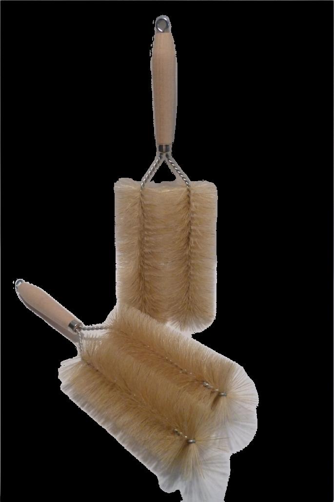 Heizkörperbürste Gabel Holzgriff Naturborste