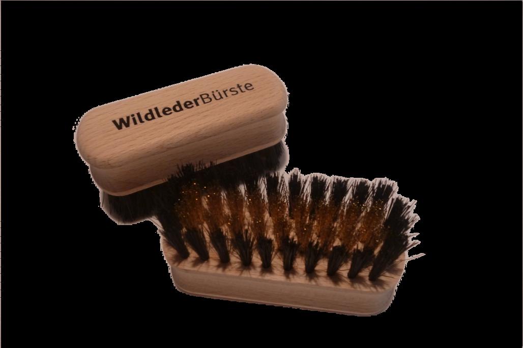 Wildlederbürste Messing