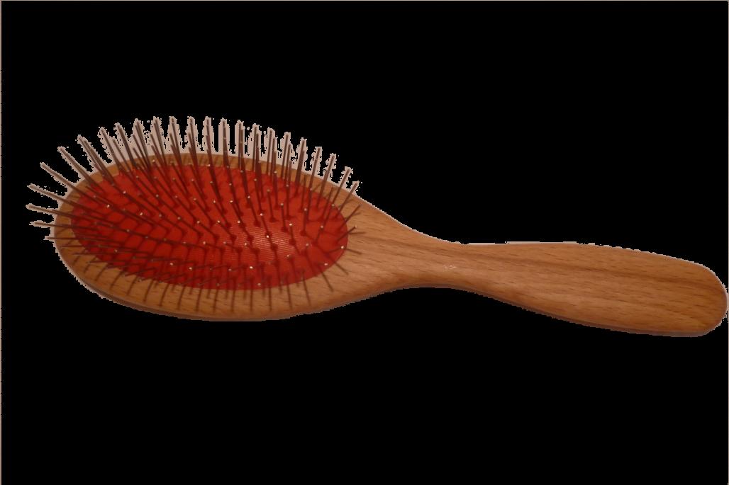 Haarbürste Drahtstifte groß oval