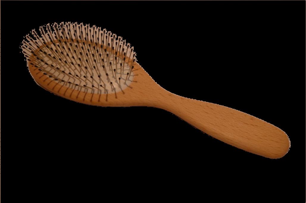 Haarbürste Drahtstifte mit Noppen groß oval