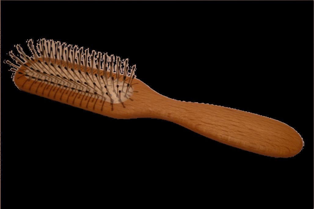 Haarbürste Drahtstifte mit Noppen schmal