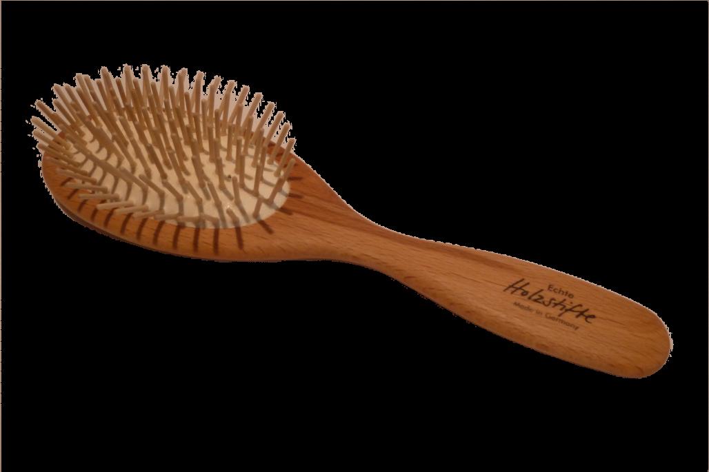Haarbürste Holzstifte groß oval