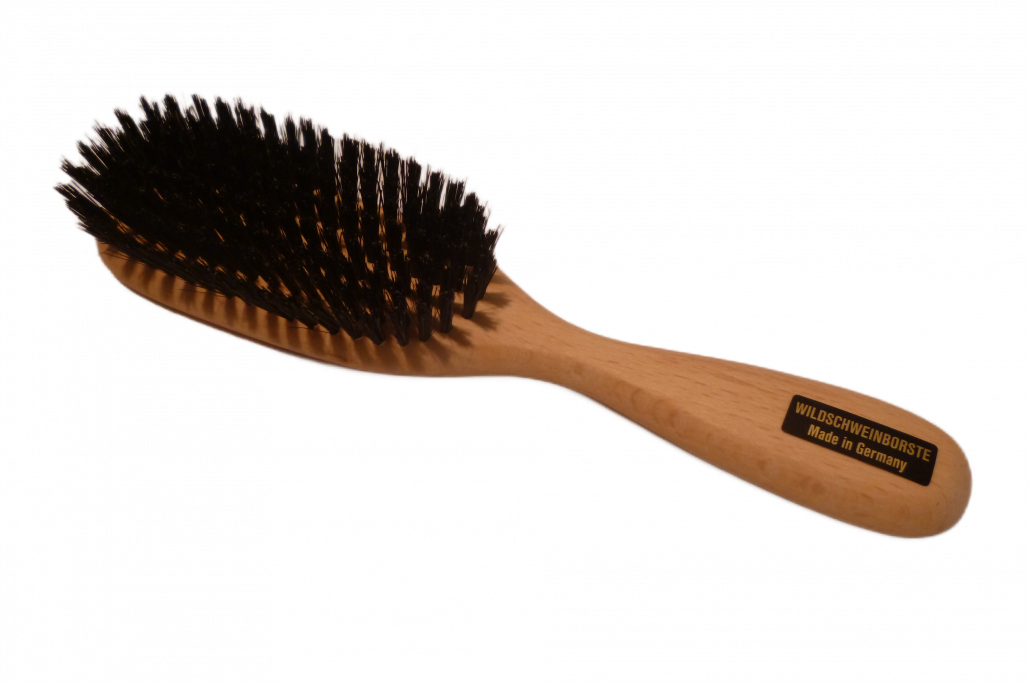 Haarbürste Wilschweinborsten mittel