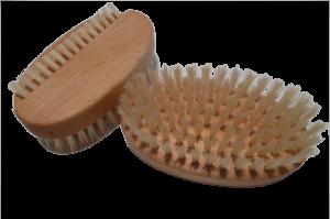 Handbürste oval 1- reihig Natur Buche