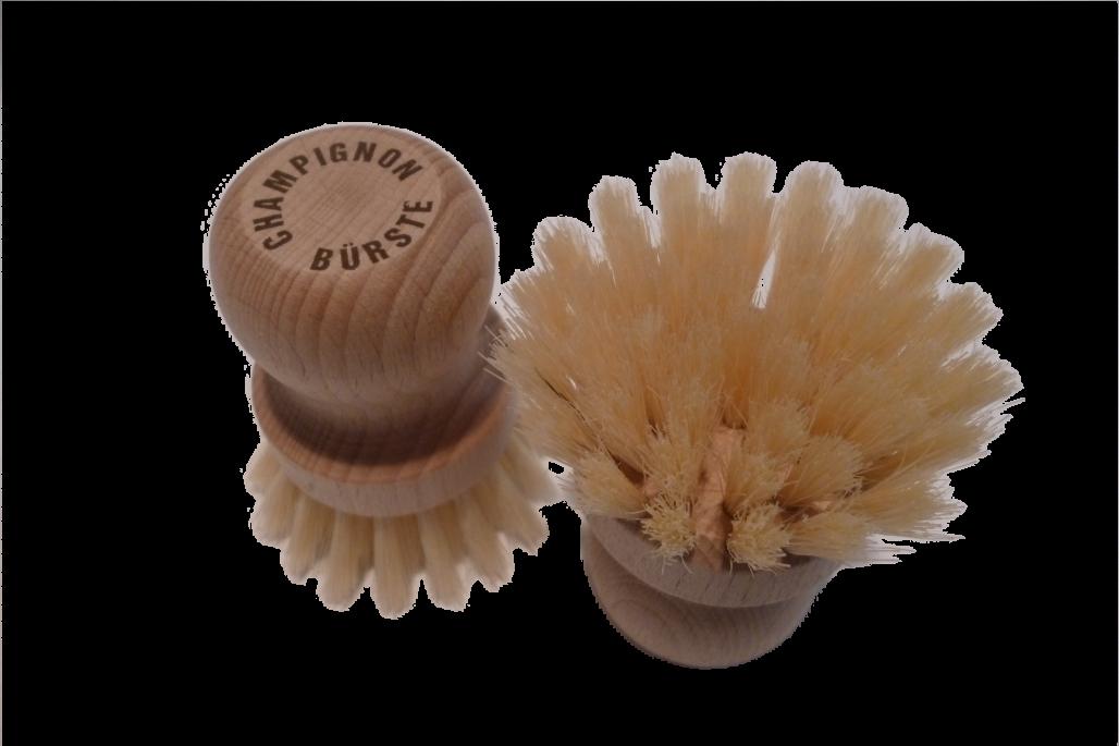 Pilzbürste rund extra weiche Naturborsten