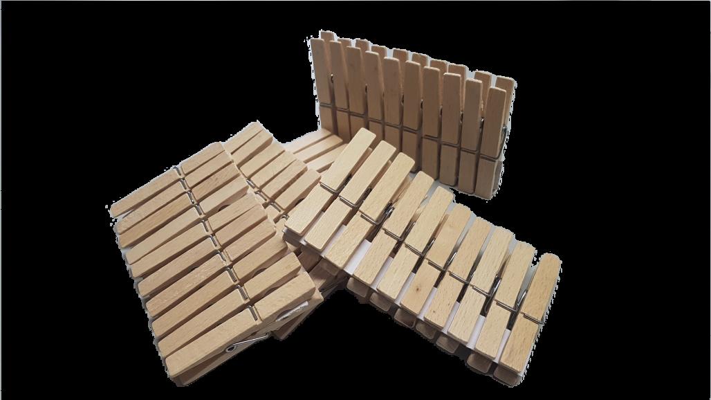Wäscheklammern 50 Stück aus Buchenholz