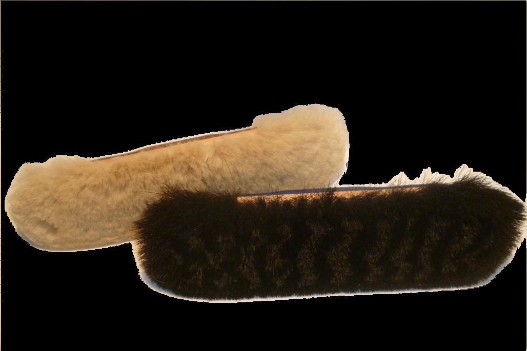 Ziegenhaarbesen mit Gewinde, außen Roßhaarrand