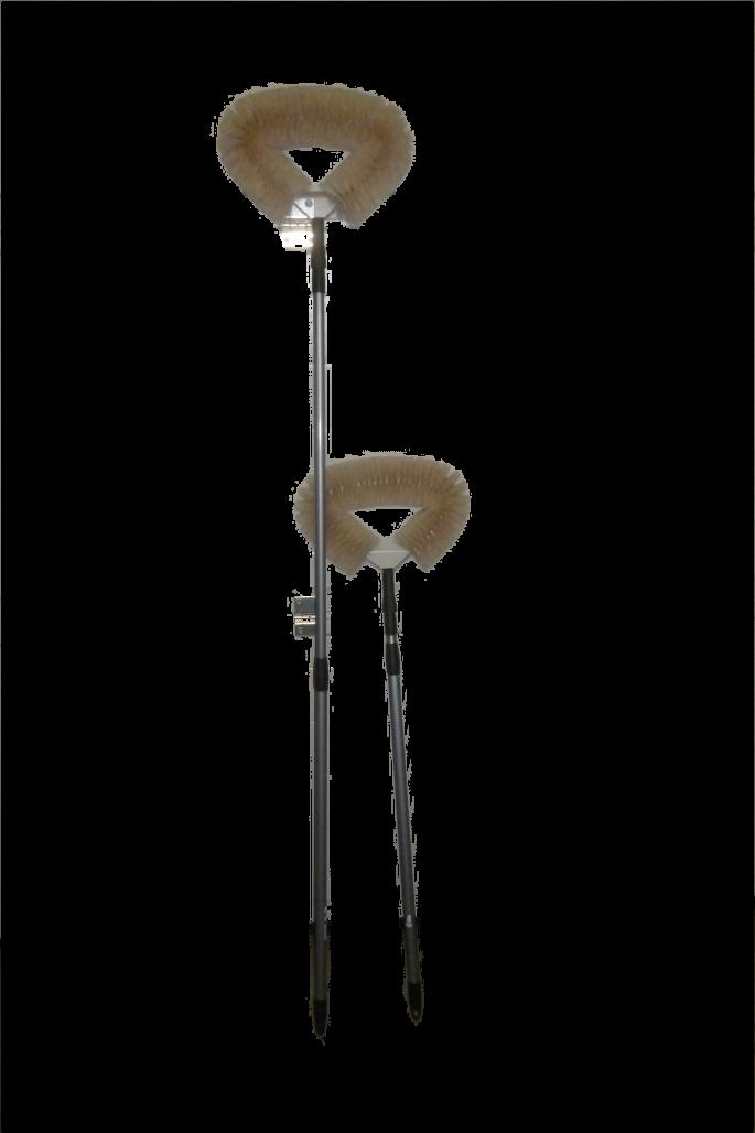 Ziegenhaarstaubbiene mit Teleskopstiel ca. 1,8 Meter