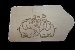 Brotzeitbrett Liebeselefanten 13x23x1 cm Angebot ab 2 Stück nur 4,90 pro Stück