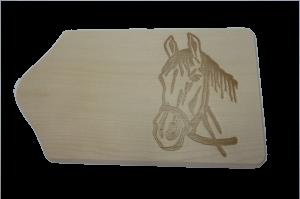 Brotzeitbrett Pferdekopf 13x23x1 cm