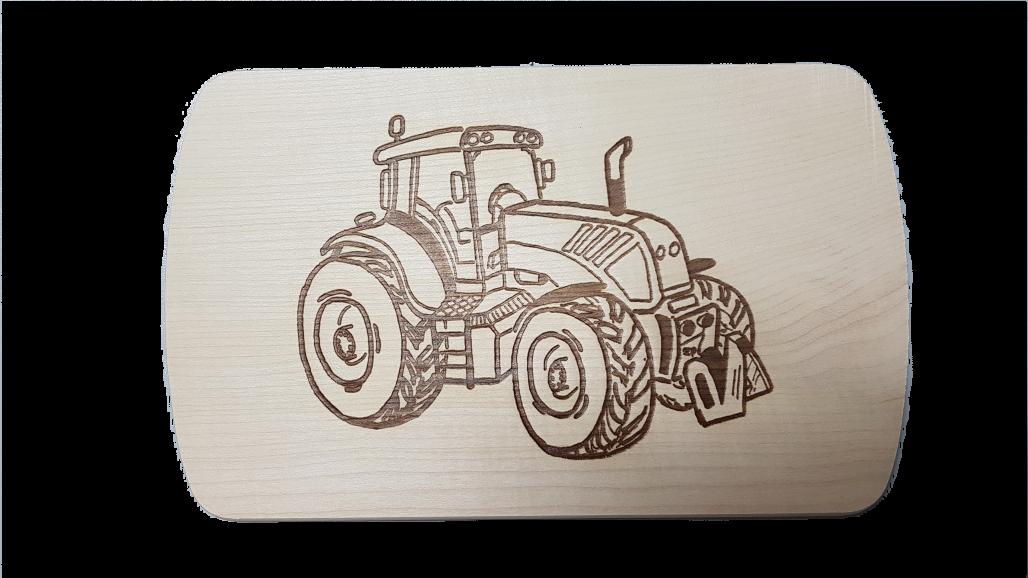 Brotzeitbrett Traktor 15x24x1 cm