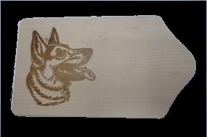 Brotzeitbrett Schäferhund 13x23x1 cm
