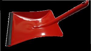 Kehrschaufel Metall mit Lippe rot