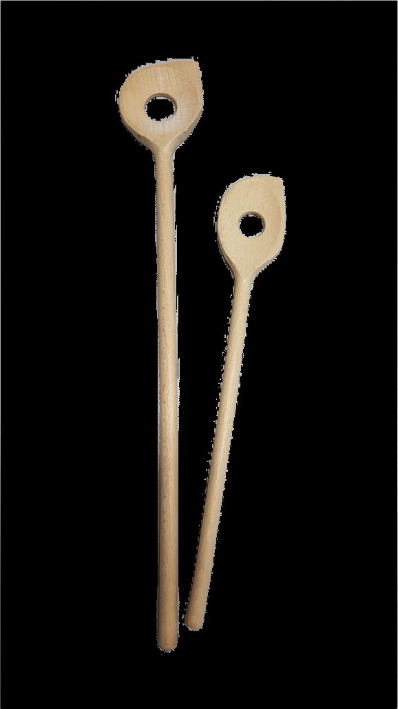 Kochlöffel  spitz  Loch ca. 30 cm Holz
