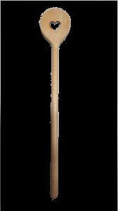 Kochlöffel Herz  gelasert ca. 30 cm Holz
