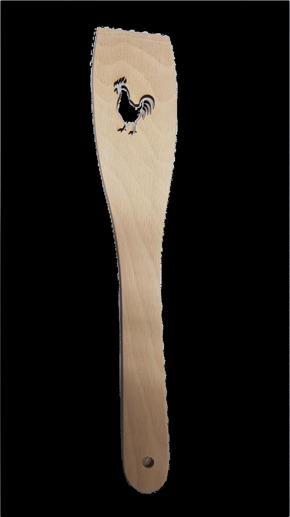 Pfannenwender  Hahn  gelasert Holz ca. 30 m