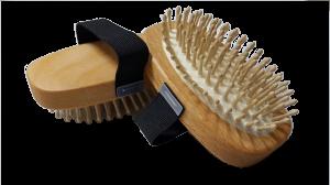 Massagebürste echte Holzstifte mit Noppen